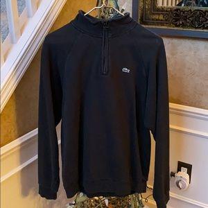 Lacoste half zip pull over sweat shirt